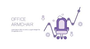 Office Armchair Web Banner With Copy Space Business Worker Concept. Vector Illustration stock illustration