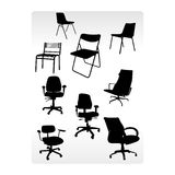 Office armchairs. Patterns vector composition Royalty Free Stock Photography