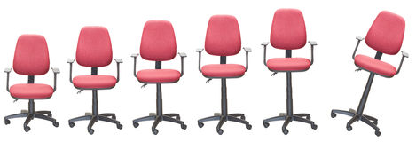 Office armchairs. Higher and higher Stock Image