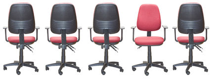Office armchairs. With one seat right Stock Images
