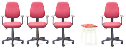 Office armchairs. And one stool Royalty Free Stock Photography