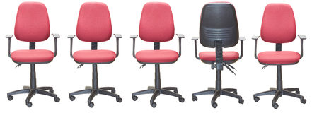 Office armchairs. With one turn round Stock Photos