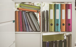 Office articles / folders. View of the Office articles / folders Royalty Free Stock Image