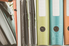 Office articles / folders. View of the Office articles / folders Stock Image