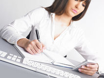 Office Assistance writing Shedule Royalty Free Stock Photo