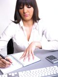 Office Assistance writing Shedule Royalty Free Stock Photography