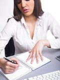 Office Assistance writing Shedule Royalty Free Stock Photos