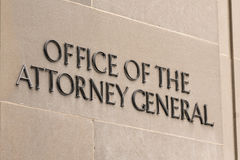 Office of the Attorney General Sign Stock Photos