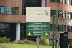 Office of Bayer Monsanto in Bergschenhoek close to a lot of greenhouses in the Netherlands.  stock photo