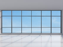 Office with big window Stock Photos