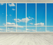 Office with big windows. Modern office with big windows royalty free illustration