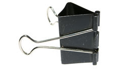 Office binder clip Royalty Free Stock Images