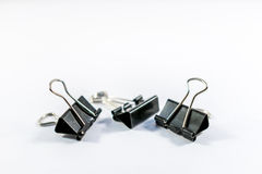 Office Binder Clips Stock Photo