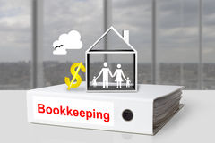 Office binder family house bookkeeping Stock Photos