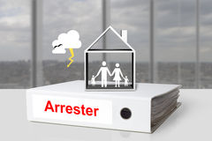 Office binder lightening arrester house family Royalty Free Stock Image