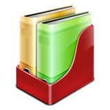 Office binder with paper folders Stock Photo