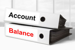 Office binders account balance Stock Photo