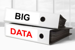 Office binders big data Royalty Free Stock Photos