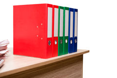 The office binders on the desk Royalty Free Stock Photo