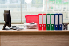 The office binders on the desk Royalty Free Stock Photography