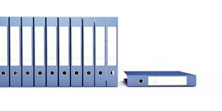 Office binders on a white background 3D illustration, 3D rendering royalty free illustration