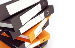 Office binders  on a white background 3D illustration, 3D rendering royalty free stock image