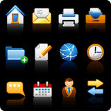 Office_black background Royalty Free Stock Photography