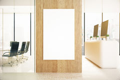 Office with blank poster Royalty Free Stock Photo