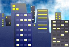 Office Blocks royalty free illustration