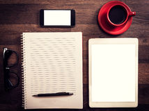 Office and blog concept Stock Photos