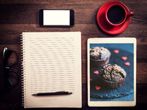Office and blog concept Royalty Free Stock Images