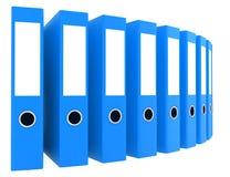 Office blue blank folders. 3d render illustration Royalty Free Stock Photography