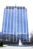 Office blue building. Big office building in a city Stock Image