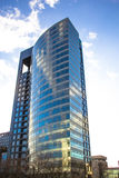 Office blue building. Big office building in a city Royalty Free Stock Image