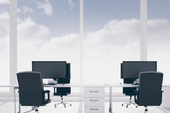 Office with blue sky Stock Photography