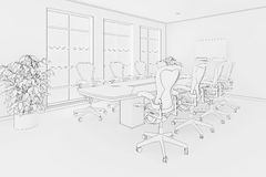 Office blueprint Royalty Free Stock Photos