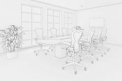 Office blueprint Royalty Free Stock Photos