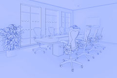 Office blueprint Royalty Free Stock Image