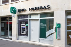 Office of BNP Paribas bank in Paris. Royalty Free Stock Photo