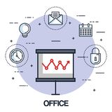 Office board presentation graph finance business. Vector illustration Royalty Free Stock Images