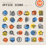 Office bold linear icons Stock Photos