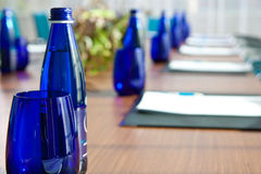 Office bottles. Buttles before meeting standing on the office table Stock Photography
