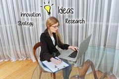 Office brainstorming ideas Stock Image