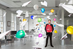Office break or party . Mixed media Stock Image
