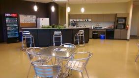 Office break room. Break room inside office space stock image