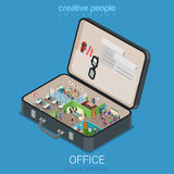 Office in briefcase isometric concept Stock Images