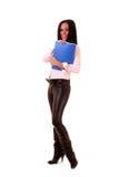 office  brunette woman Stock Image
