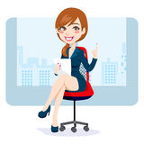 Office Brunette Woman Royalty Free Stock Photography