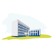 Office build. Vector illustration of office build Royalty Free Stock Image