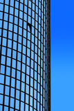 Office building. Detail of a oval business tower Stock Photos